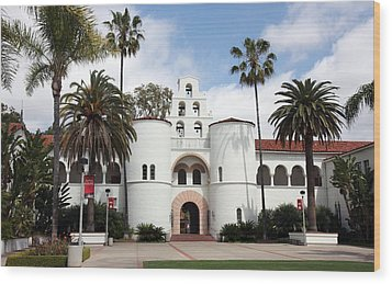 Wood Print featuring the photograph San Diego State University by Nathan Rupert