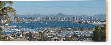 San Diego's Big Bay Wood Print