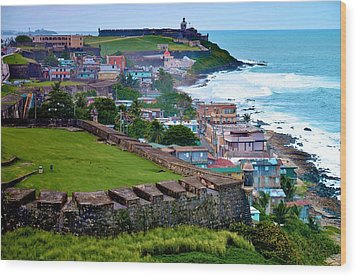 Wood Print featuring the photograph San Felipe Del Morro Fortress From San Cristobal by Ricardo J Ruiz de Porras