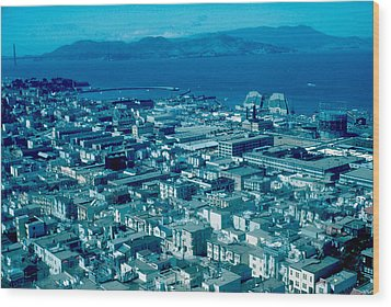 San Francisco 14 1955 Wood Print by Cumberland Warden