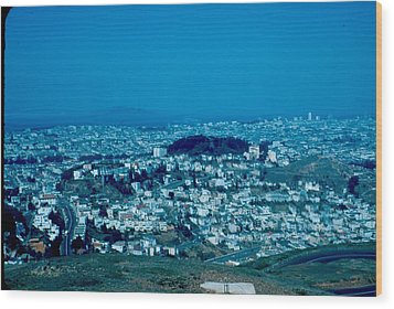 San Francisco 3 1955 Wood Print by Cumberland Warden