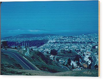 San Francisco 4 1955 Wood Print by Cumberland Warden