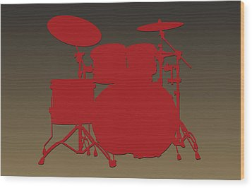 San Francisco 49ers Drum Set Wood Print by Joe Hamilton