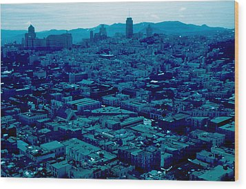 San Francisco 8 1955 Wood Print by Cumberland Warden