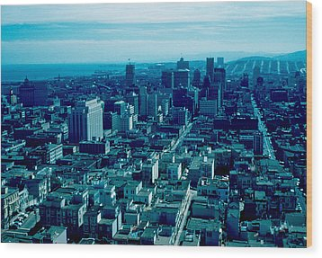San Francisco 9 1955 Wood Print by Cumberland Warden