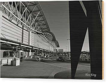 Wood Print featuring the photograph San Francisco Airport by Alex King