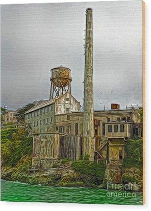 San Francisco - Alcatraz - 03 Wood Print by Gregory Dyer