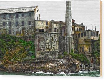 San Francisco - Alcatraz - 04 Wood Print by Gregory Dyer