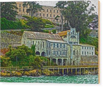 San Francisco - Alcatraz - 06 Wood Print by Gregory Dyer