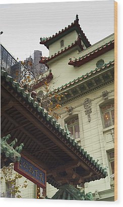 San Francisco Chinatown Dragon Gate Wood Print by SFPhotoStore
