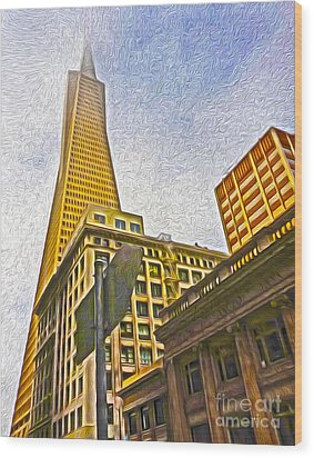 San Francisco - Cityscape - 05 Wood Print by Gregory Dyer