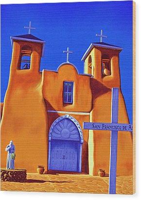 San Francisco De Asis Wood Print