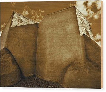Wood Print featuring the photograph San Francisco De Asis Mission Church Taos II by John Hansen