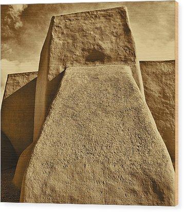 Wood Print featuring the photograph San Francisco De Asis Mission Church Taos by John Hansen