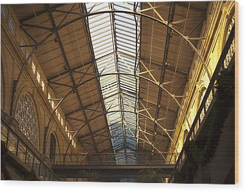 San Francisco Ferry Building Interior Wood Print by SFPhotoStore