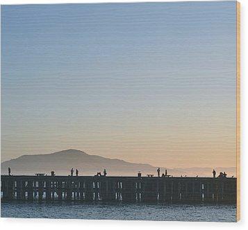San Francisco Fishing Dock Wood Print