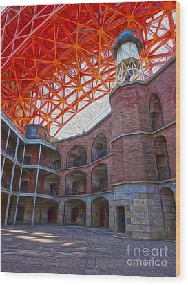 San Francisco - Fort Point - 02 Wood Print by Gregory Dyer