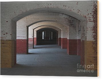 San Francisco Fort Point 5d21544 Wood Print by Wingsdomain Art and Photography