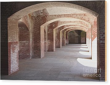San Francisco Fort Point 5d21545 Wood Print by Wingsdomain Art and Photography