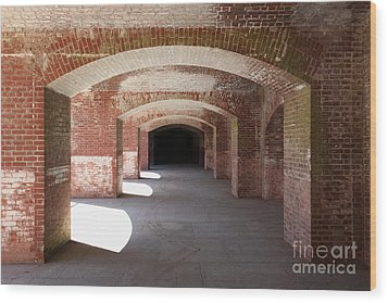 San Francisco Fort Point 5d21546 Wood Print by Wingsdomain Art and Photography