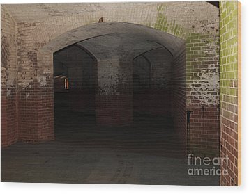 San Francisco Fort Point 5d21548 Wood Print by Wingsdomain Art and Photography