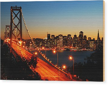 Wood Print featuring the photograph The City By The Bay by James Kirkikis