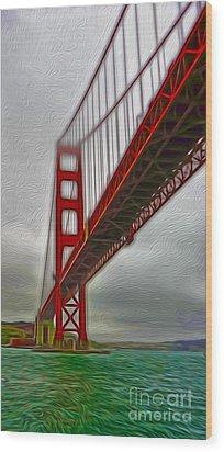 San Francisco - Golden Gate Bridge - 02 Wood Print by Gregory Dyer