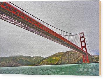San Francisco - Golden Gate Bridge - 03 Wood Print by Gregory Dyer