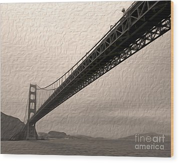 San Francisco - Golden Gate Bridge - 05 Wood Print by Gregory Dyer