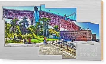 San Francisco - Golden Gate Bridge - 09 Wood Print by Gregory Dyer