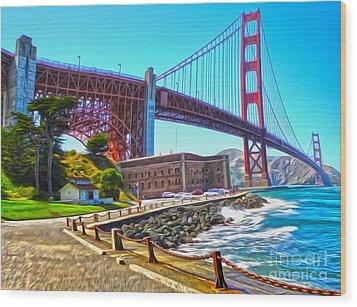 San Francisco - Golden Gate Bridge - 11 Wood Print by Gregory Dyer