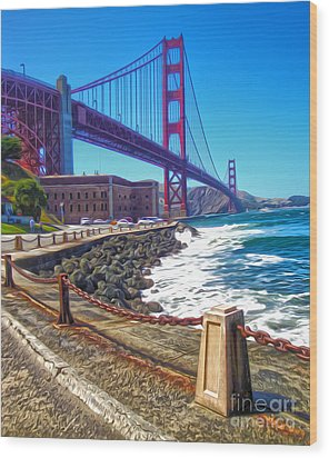 San Francisco - Golden Gate Bridge - 12 Wood Print by Gregory Dyer