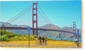 San Francisco - Golden Gate Bridge - 13 Wood Print by Gregory Dyer