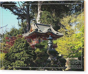 San Francisco Golden Gate Park Japanese Tea Garden 5 Wood Print by Robert Santuci
