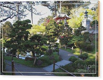 San Francisco Golden Gate Park Japanese Tea Garden 6 Wood Print by Robert Santuci