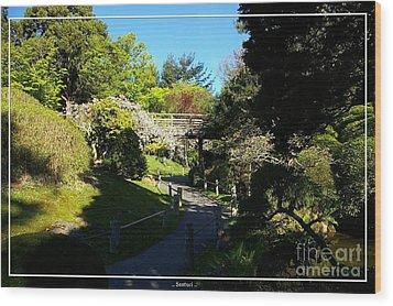 San Francisco Golden Gate Park Japanese Tea Garden 7 Wood Print by Robert Santuci