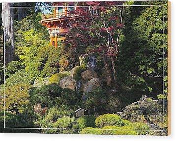 San Francisco Golden Gate Park Japanese Tea Garden 9 Wood Print by Robert Santuci