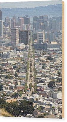 San Francisco - Market Street - Castro To Embarcadero Wood Print by Daniel Furon