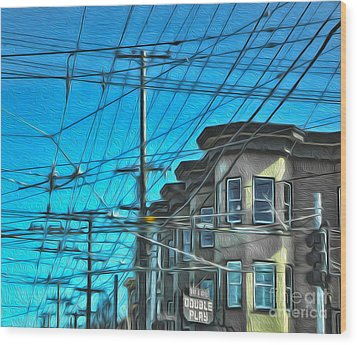 San Francisco - Mission District - 01 Wood Print by Gregory Dyer