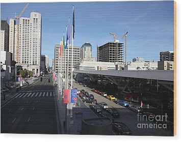 San Francisco Moscone Center And Skyline - 5d20511 Wood Print by Wingsdomain Art and Photography