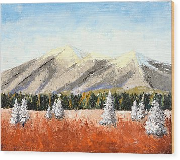 San Francisco Mountains Wood Print
