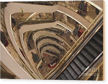 San Francisco Nordstrom Department Store - 5d20639 Wood Print by Wingsdomain Art and Photography