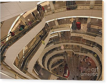 San Francisco Nordstrom Department Store - 5d20641 Wood Print by Wingsdomain Art and Photography