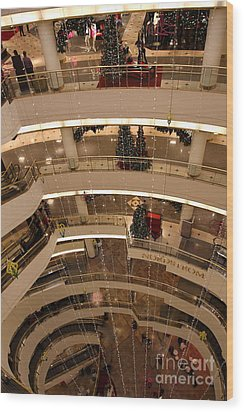 San Francisco Nordstrom Department Store - 5d20642 Wood Print by Wingsdomain Art and Photography