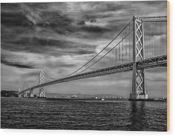 San Francisco - Oakland Bay Bridge Wood Print