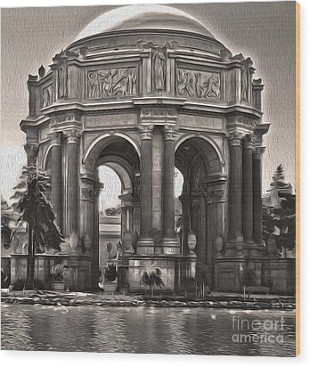 San Francisco - Palace Of Fine Arts - 01 Wood Print by Gregory Dyer