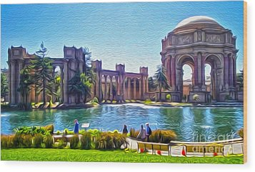 San Francisco - Palace Of Fine Arts - 02 Wood Print by Gregory Dyer