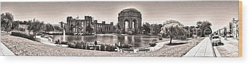 San Francisco - Palace Of Fine Arts - 03 Wood Print by Gregory Dyer