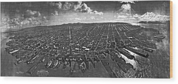 San Francisco Panorama Wood Print by Underwood Archives