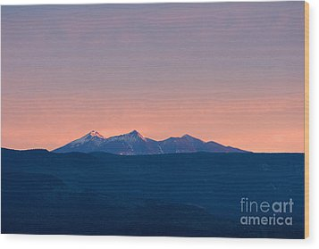 San Francisco Peaks At Sunrise Wood Print